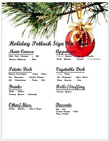 40 Potluck Sign Up Sheets Templates 2019 Excelshe