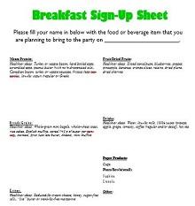 Potluck sign up sheet 31