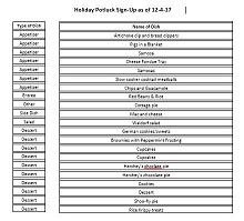 event sign up sheet template