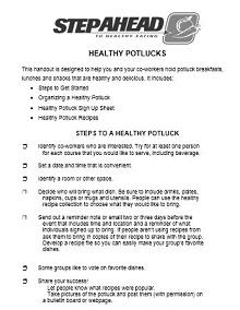 Potluck sign up sheet 35