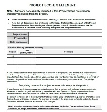 Project scope example 12