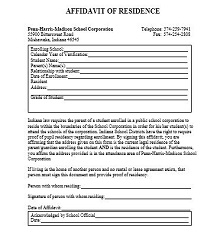 proof of residency letter from employer