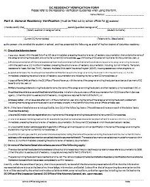 sample proof of residency letter