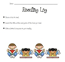 reading log template middle school