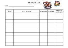 graphic relating to Weekly Reading Log Printable named 65+ Printable Examining Log 1st Quality, 2nd Quality, Heart