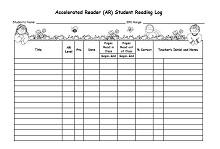 Reading log template 31