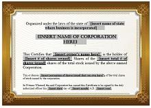 Stock certificate template 25