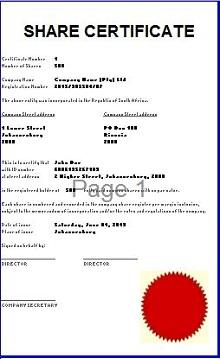 Stock certificate template 27