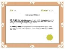 Stock certificate template 36