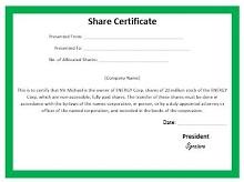 stock certificate format in word