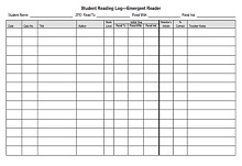 reading log for 1st grade
