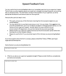 Upward feedback form