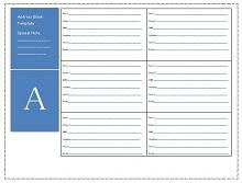 Address Book Template 32