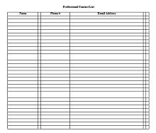Address Book Template 33