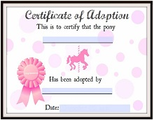 fake adoption certificate maker