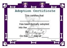 fake adoption certificate maker