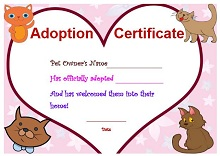 adoption certificate maker