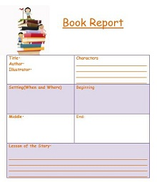 book report template free printable, book report sheet fourth grade