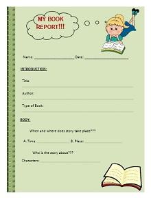 book report forms, book report worksheet