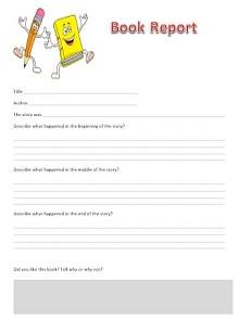 book report worksheet, book report template 3rd grade