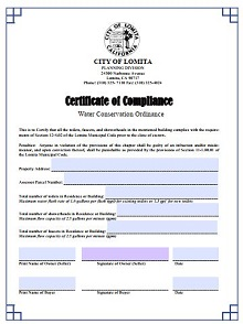 certificate of compliance template manufacturing