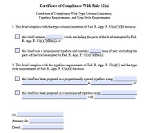 certificate of compliance example