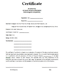 certificate of compliance form template