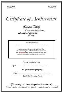 certificates of achievement templates