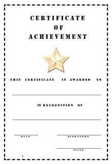 achievement templates