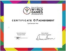 achievement certificate template free