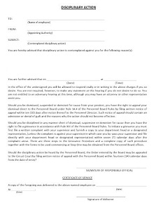 Disciplinary Action Form 37