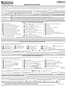 employee disciplinary action form pdf