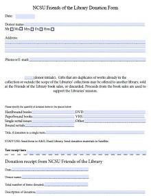 non profit donation receipt template