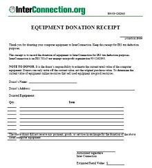 donation receipt template doc