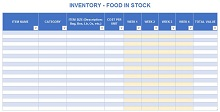 Inventory list template 26