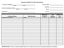personal property inventory list template