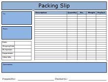 Packing slip template 27