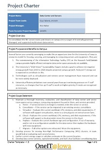 project charter template pmi