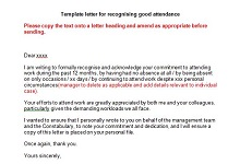 employee of the month recognition letter sample