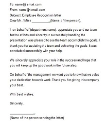 award recognition letter