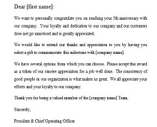 team recognition letter
