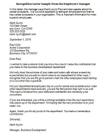 sample employee recognition letter for hard work