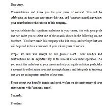sample of recognition letter