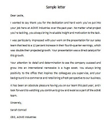 employee recognition letter examples