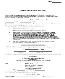 Room rental agreement 20