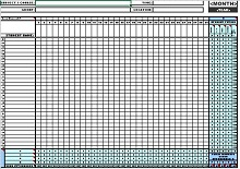 attendance sheet pdf
