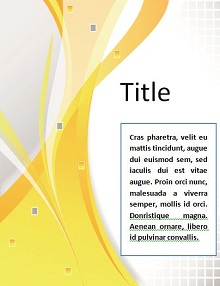 cover page example