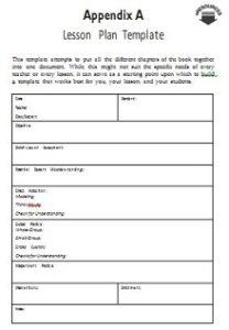 Lesson plan template 10