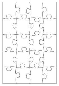 Puzzle piece template 06