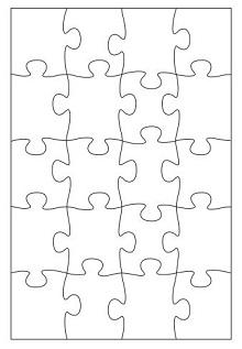 10 piece puzzle template